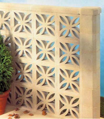 Petal Leaf concrete wall blocks