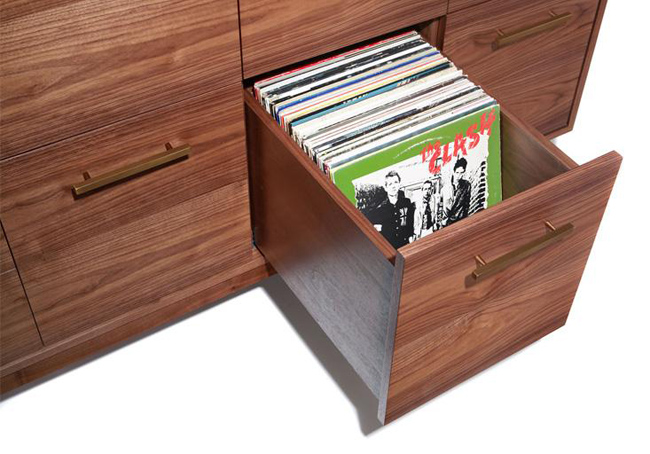 Midcentury Record Cabinet by Atocha Design