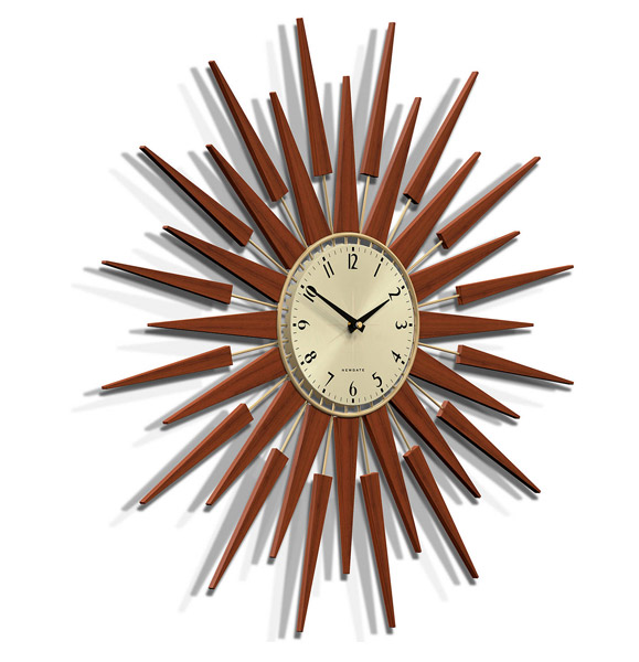 Newgate Pluto 1950s-style starburst clock