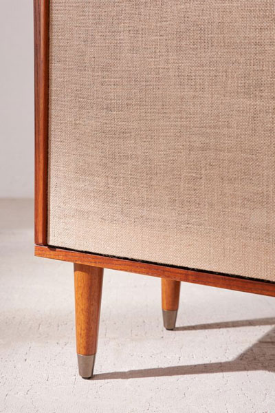 Draper 1960s-style media console at Urban Outfitters