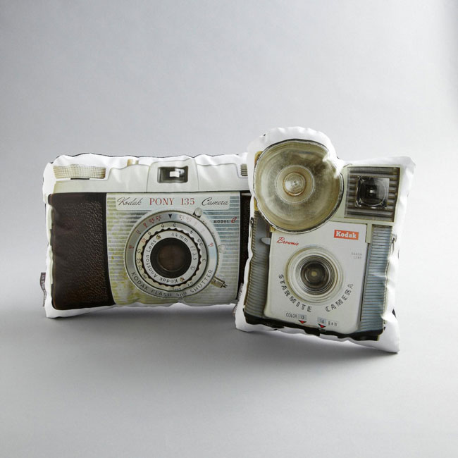 Vintage camera cushions from In the Seam