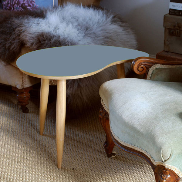 Midcentury curved top tables by Judy Clark