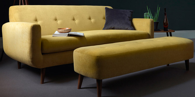 Peta midcentury-style seating range at Sofa Workshop