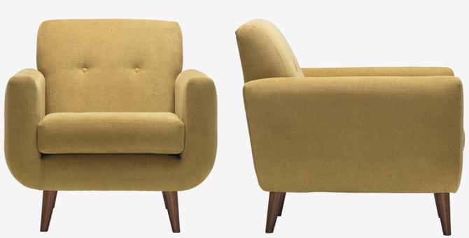 Peta midcentury-style seating range at Sofa Workshop