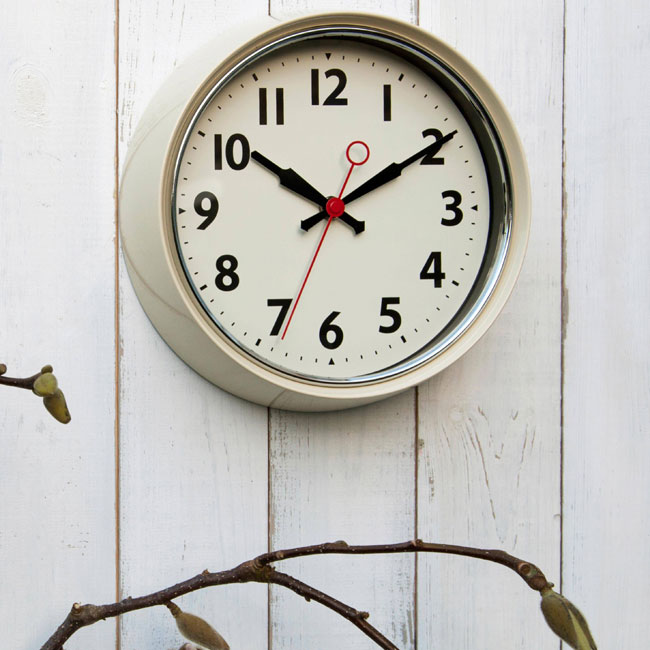 Budget 1950s-style wall clocks from Rex London
