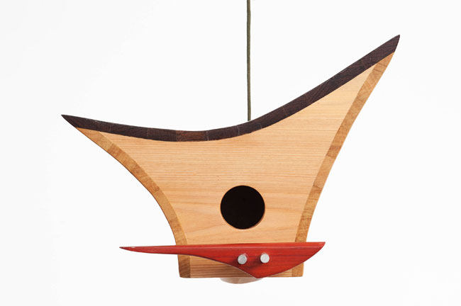 Midcentury-style birdhouses by KoolBird