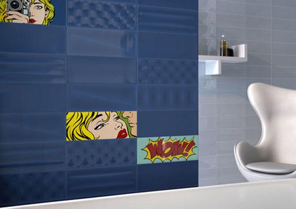 Roy Lichtenstein-inspired Pop tiles by Imola