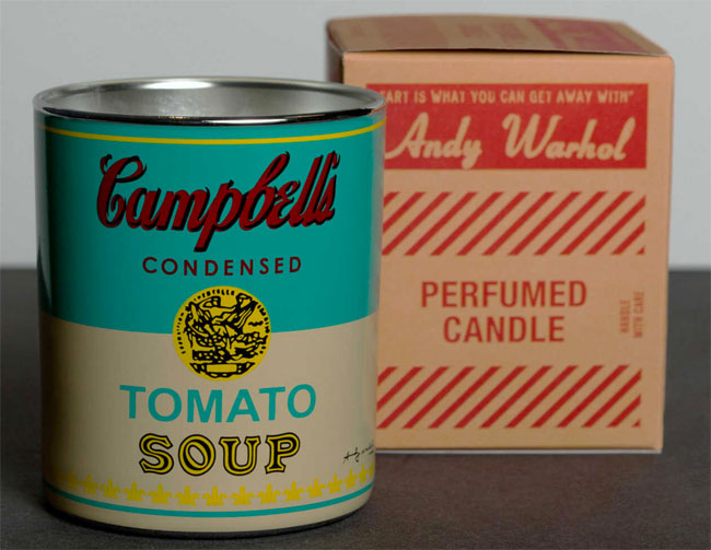 Andy Warhol Campbell's Soup Can scented candles