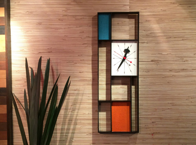 Midcentury and Mondrian-inspired clocks by Jetset Retro