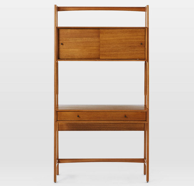Retro office: Mid-century wall desk from West Elm