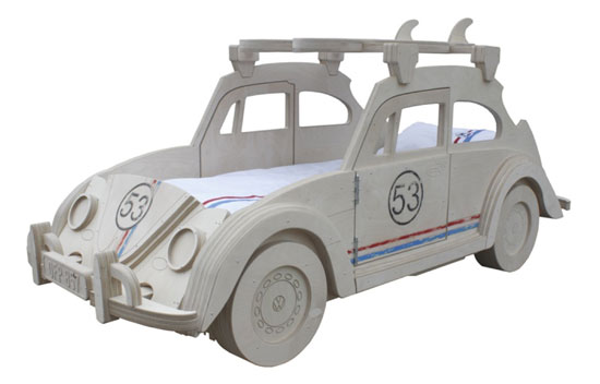 Herbie-inspired VW Beetle bed at Cuckooland