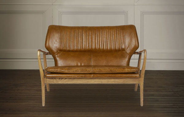 Whitworth leather two-seater sofa and armchair at Laura Ashley