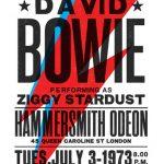 David Bowie Ziggy Stardust concert poster by The Indoor Type