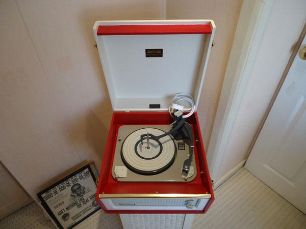 Vintage 1960s Dansette Bermuda record player