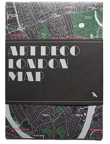 Architecture spotting: Art Deco London Map by Blue Crow Media