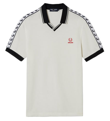 1980s-style Special Edition England Country Shirt by Fred Perry