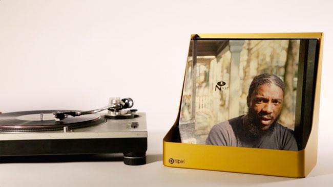 Rack up your records: Flipbin vinyl storage system