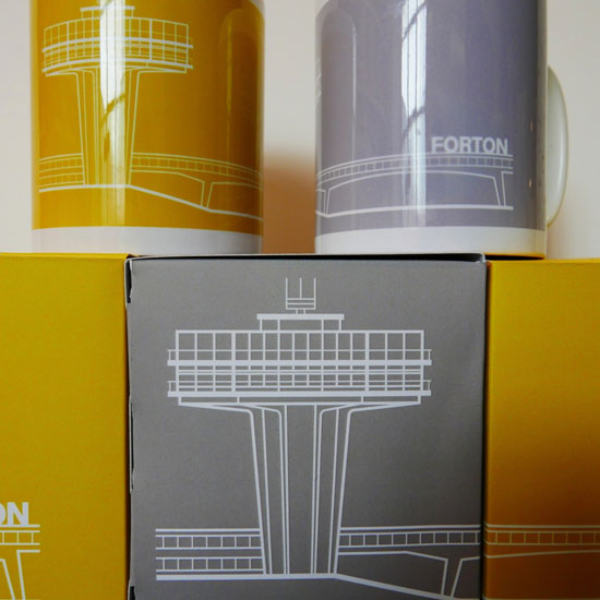 Forton Services mugs at The Modernist shop