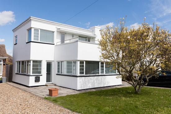 1930s JT Shelton-designed art deco property in Frinton-on-Sea, Essex