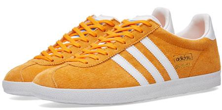 Adidas Gazelle OG trainers reissued in a bright orange suede ...