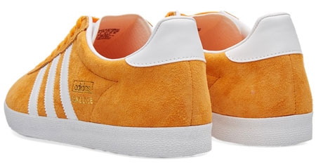Adidas Gazelle OG trainers reissued in a bright orange suede finish