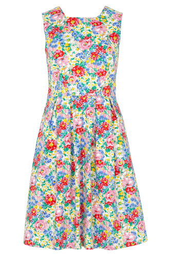 Vintage-style Hatty floral garden dress at Sugarhill Boutique
