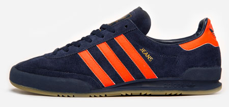 salado Intrusión compromiso  Adidas Jeans MK II trainers reissued in navy and orange as a Size?  exclusive - Retro to Go