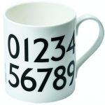Johnston Typeface mugs at the London Transport Museum Shop