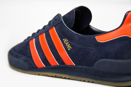 Adidas Jeans MK II trainers reissued in navy and orange as a Size? exclusive