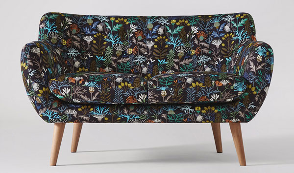 Mimi midcentury-style sofa by Swoon Editions gets a limited edition Brie Harrison makeover