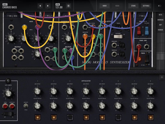 1970s Moog Model 15 Synthesiser recreated as an iOS app