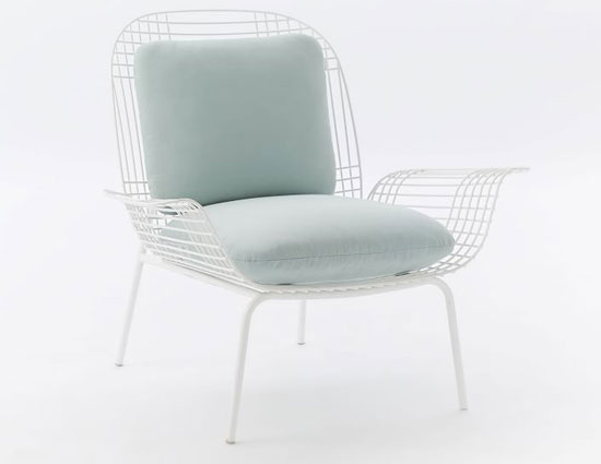 Midcentury-style Palm outdoor lounge chair at West Elm