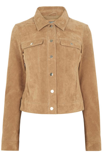 Vintage-style suede jacket at Oasis