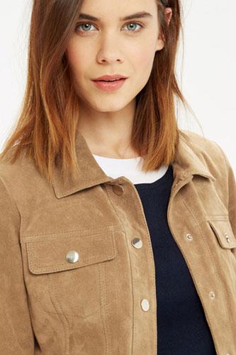 Vintage-style suede jacket at Oasis