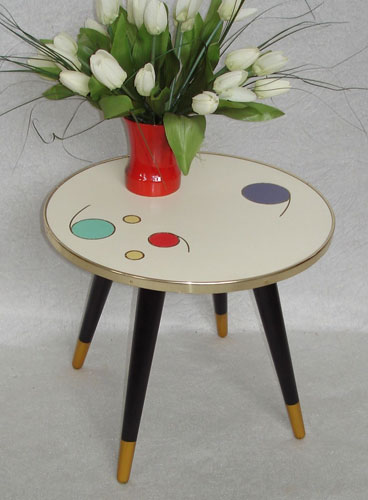 1950s midcentury style patterned tables