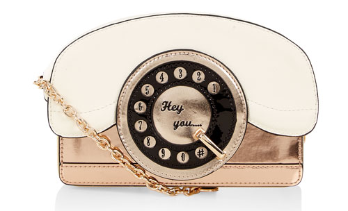 Retro Ring Ring Telephone bag at Accessorize