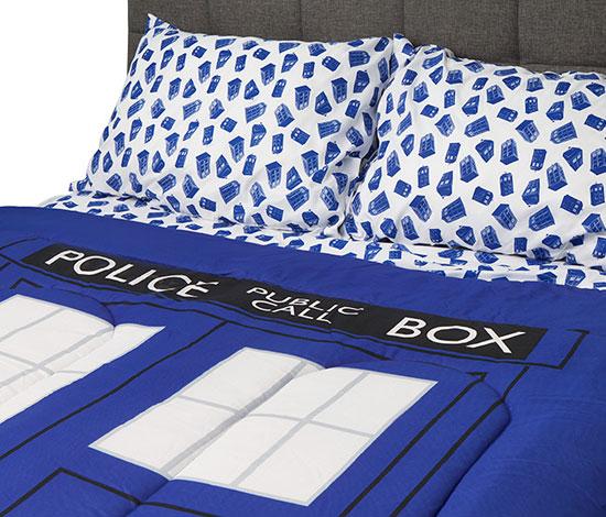 Doctor Who TARDIS bedding at ThinkGeek
