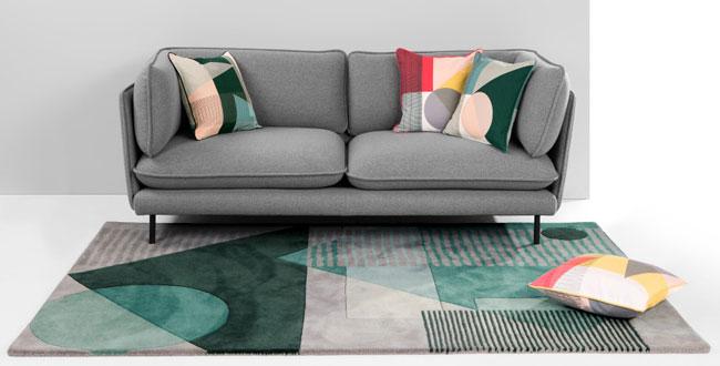 Callum Wilson-designed Axle modernist-style rug at Made