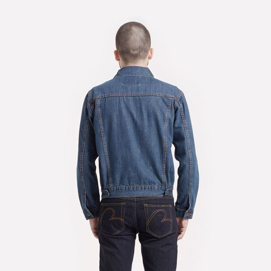 Brutus Gold vintage-style denim trucker jacket