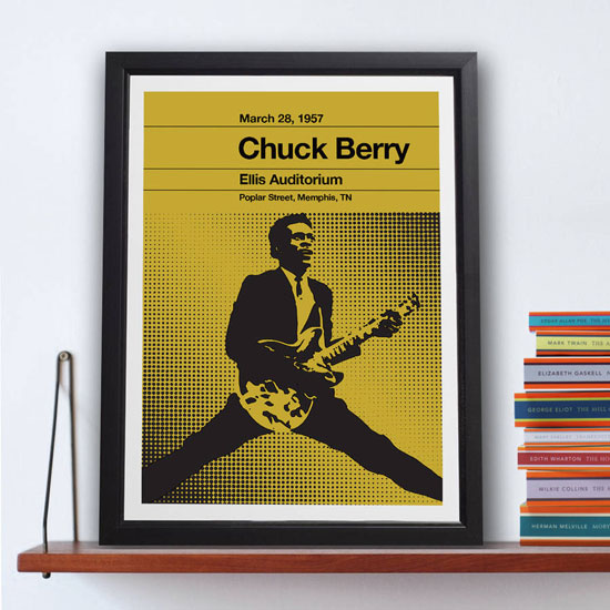 Chess Series gig posters by the Stereo Typist