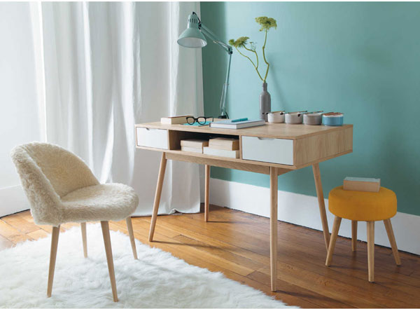 Retro office fjord vintage desk at maisons du monde retro to go - Deco vintage scandinave ...