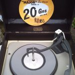 Restored 1960s Dansette Major Deluxe 21 record player in black