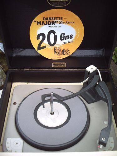 Restored 1960s Dansette Major Deluxe 21 record player in black