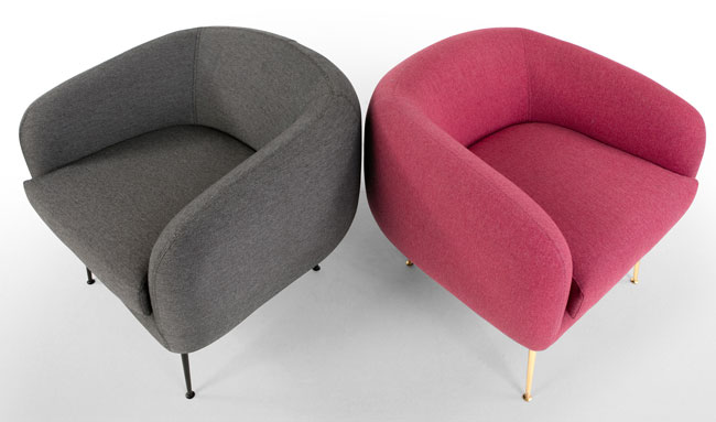 Dinky retro-style accent chair at Made