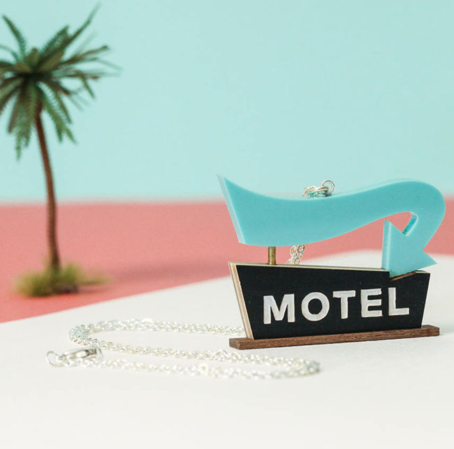Midcentury Modern necklaces and brooches by Tiny Scenic