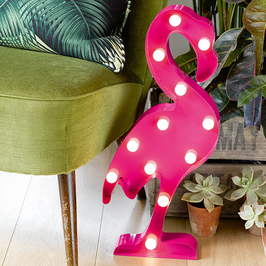 A touch of kitsch: Carnival Fiesta Flamingo Light