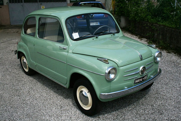 Restored 1958 Fiat 600 II Series car