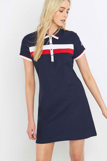 Urban Outfitters x Fila Serena 1980s-style polo dress