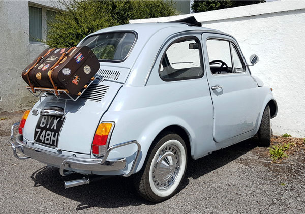 Restored 1970 right-hand drive Fiat 500