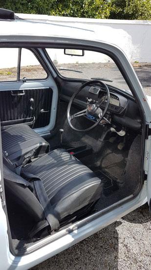Restored 1970 right-hand drive Fiat 500